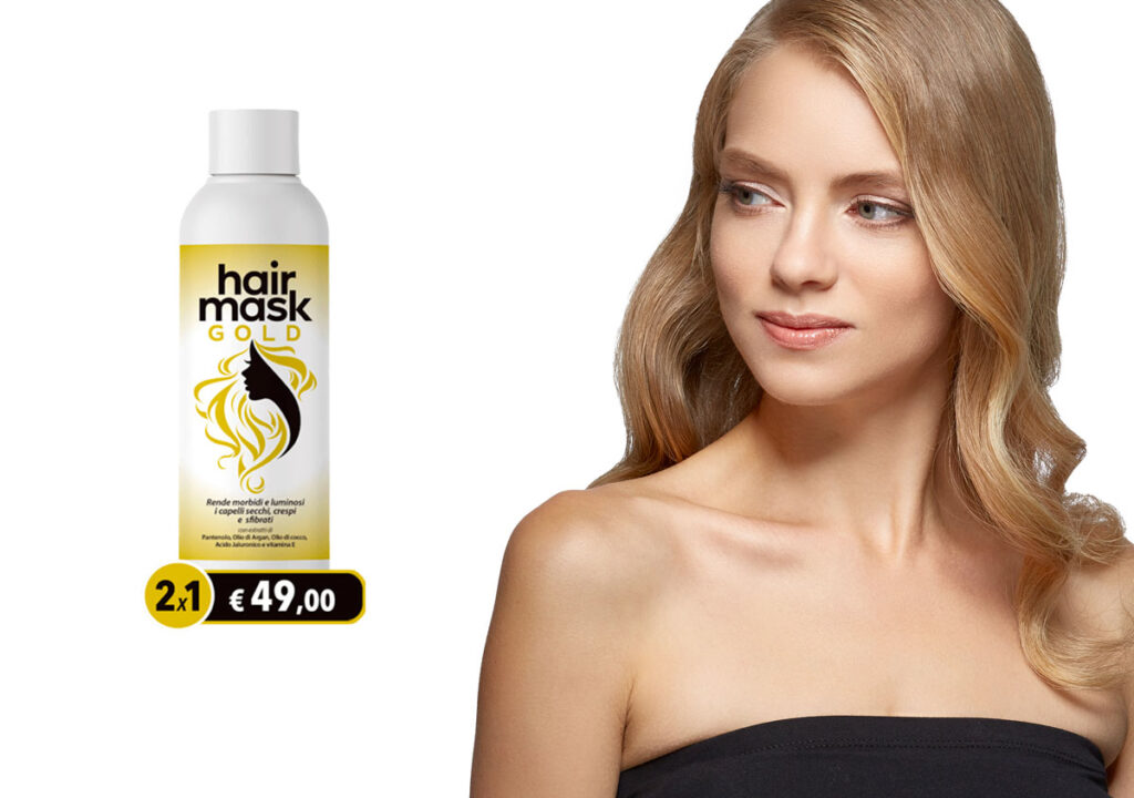 hair mask gold crema capelli